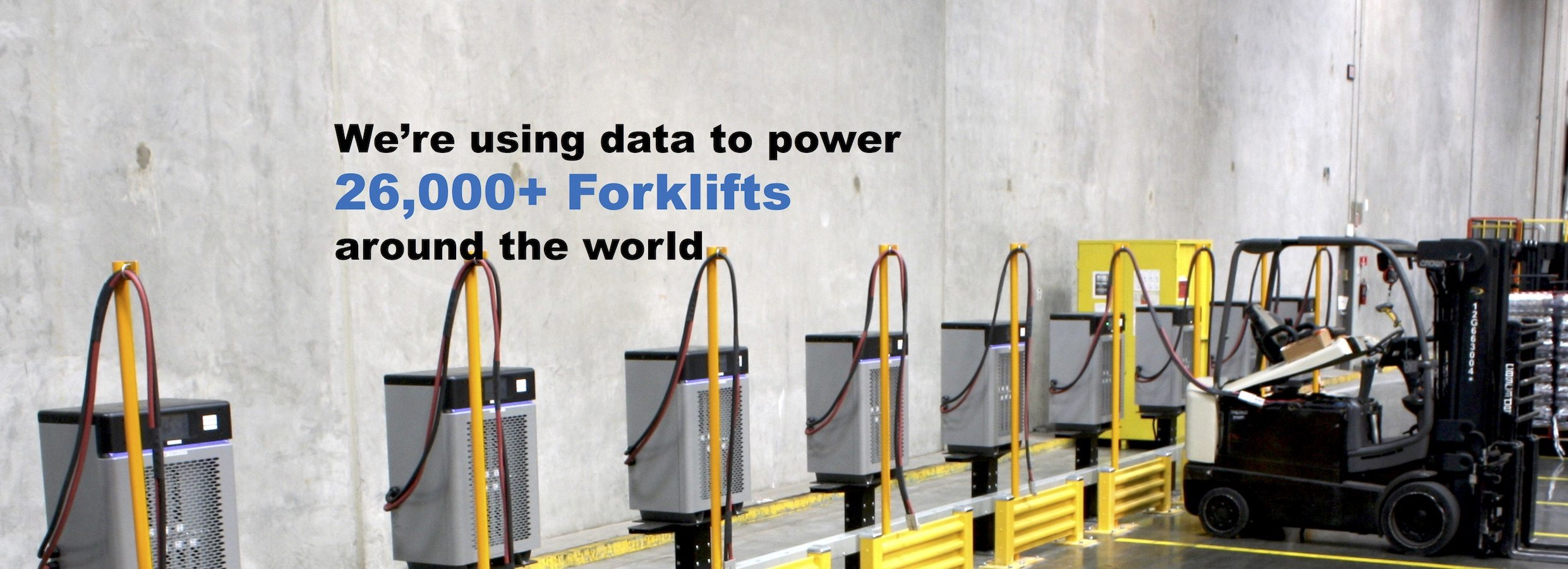 22,000+ forklifts powered by data